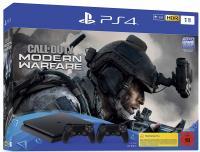 Sony Playstation 4 Slim 1TB+COD Modern warfare+2 pulteliai